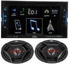 JVC Double DIN Bluetooth DVD CD Touch Screen Radio, 500W 6x9