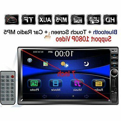 "Regetek Double Din Car Radio Stereo, 7"" In-Dash 1080P Touchs"