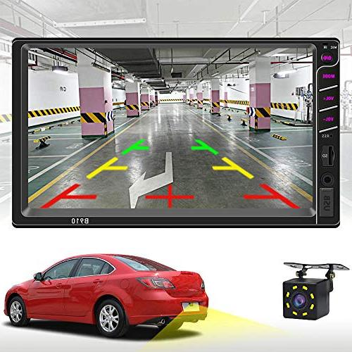Double Din 7 Inches Touch Car Radio MP5 Player,Supports Camera/USB/TF with Remote