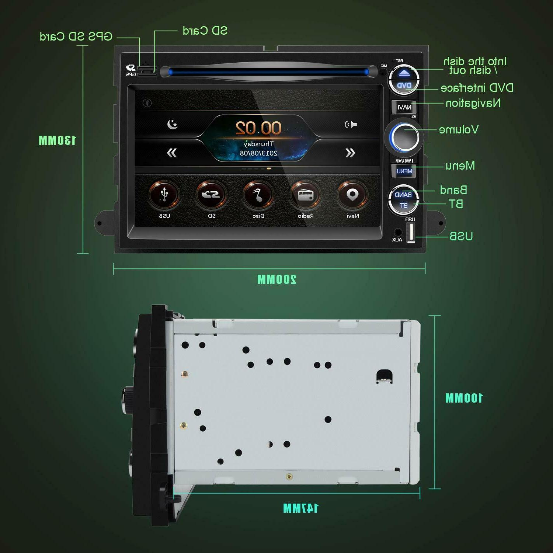 Double Radio 7 Screen Bluetooth Mirror