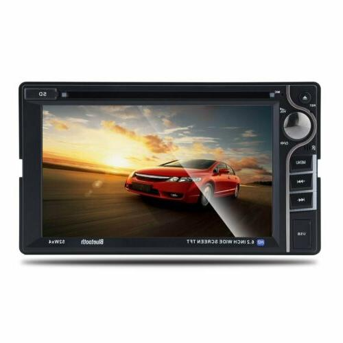 Double DIN MP5 Player 6.2 Touch Steoro FM Radio
