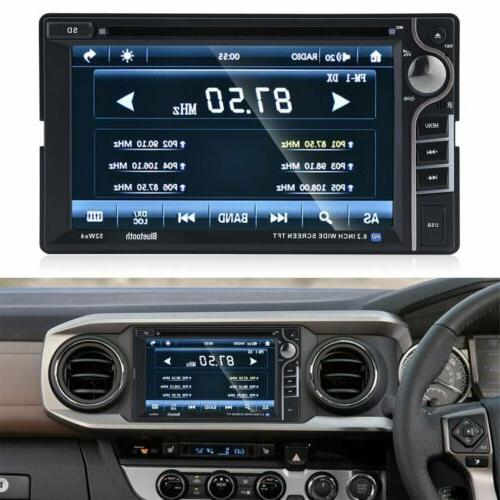 Double DVD Car MP5 Touch Steoro Radio BT