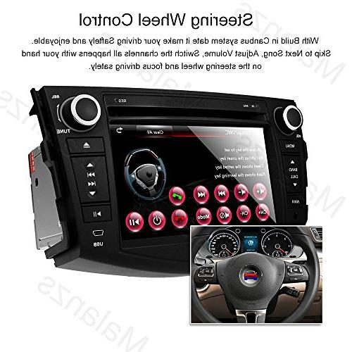 Double Din Radio Car Stereo with Toyota RAV4 Head Unit indash DVD GPS SD Steering Control