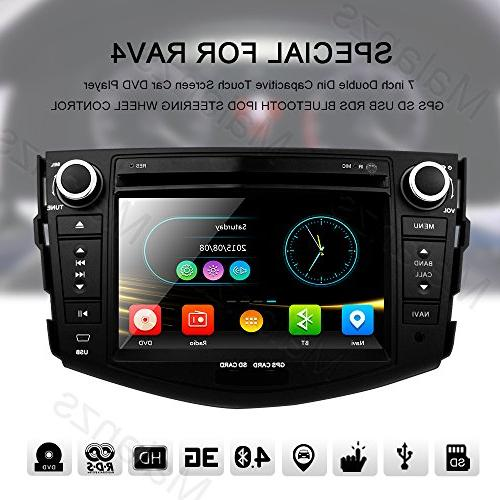 Double Din Radio Stereo with Navigation Toyota RAV4 Bluetooth Head inch indash DVD Screen Steering Wheel Control