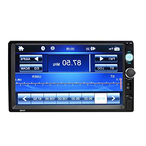 7 Inch Double Touch Screen Stereo with MP5 Audio car Support SD/USB/AUX/Rear Control