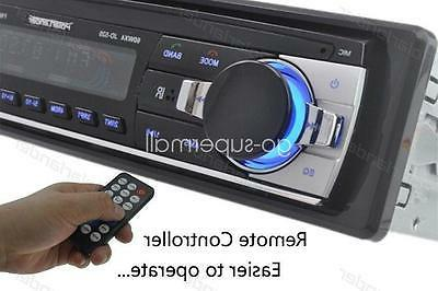 12V FM In Car DIN AUX Bluetooth Handsfree Head