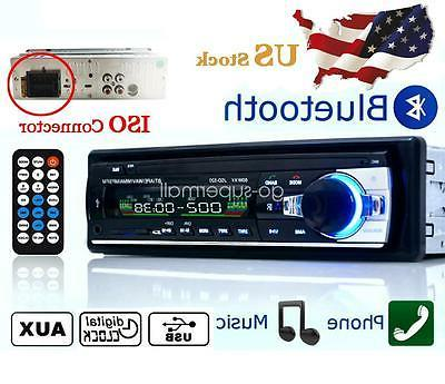 12V FM Car Radio DIN AUX Handsfree Head