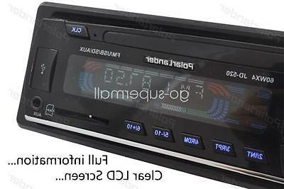 12V FM In Dash Car Stereo Radio DIN Handsfree Unit