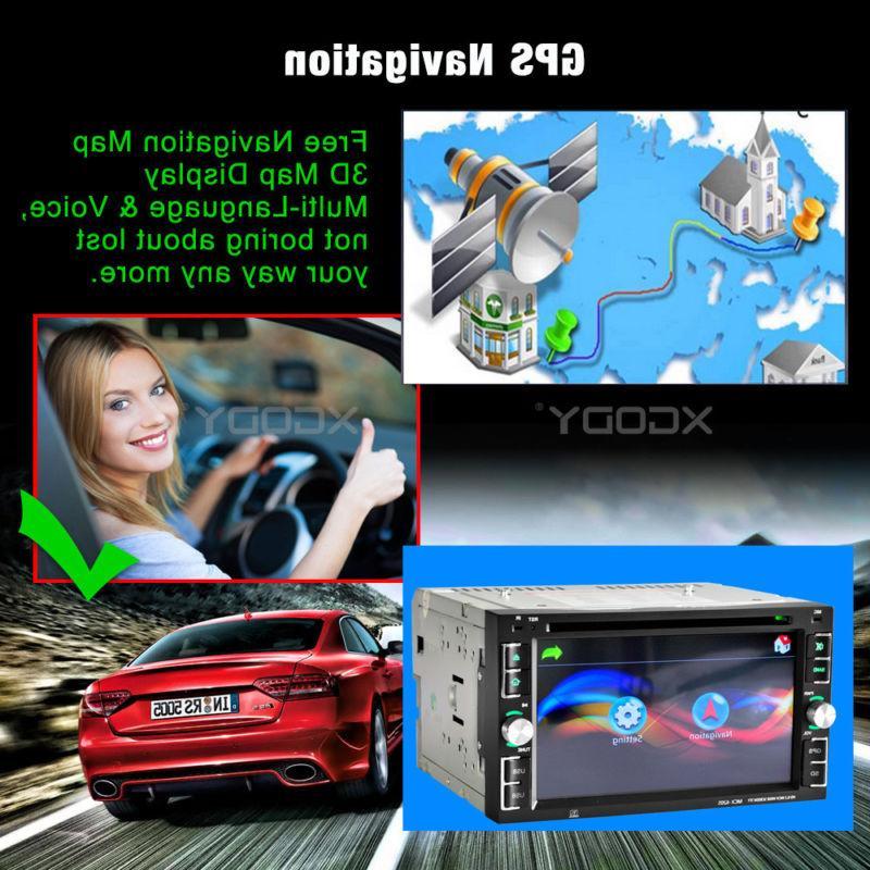 GPS Double Din Car Stereo Radio DVD MP3 Map TV