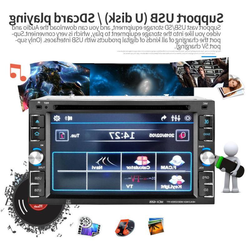 GPS Stereo Radio Player Bluetooth Free Map Port