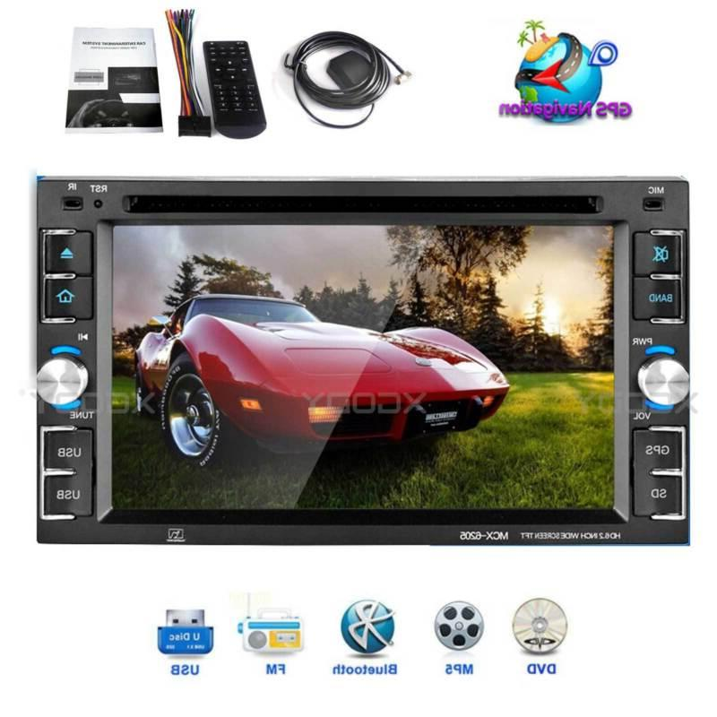 GPS Double Din Car Stereo Radio DVD MP3 Player Bluetooth wit