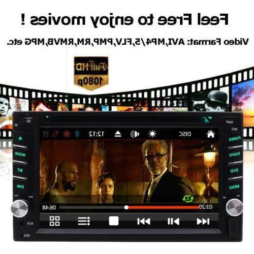 "GPS Bluetooth Radio Din 6.2"" Car Player CD"