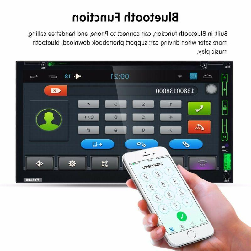 GPS Navigation Car DVD CD Player Bluetooth Auto +Camera