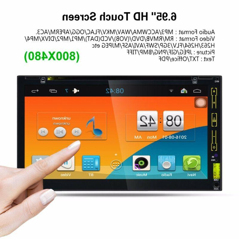 GPS Navigation Double 2Din Player Bluetooth Auto +Camera