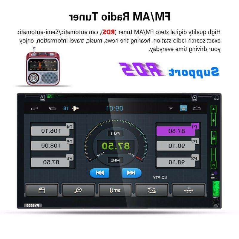 GPS Navigation Double Car DVD Player Bluetooth Auto +Camera