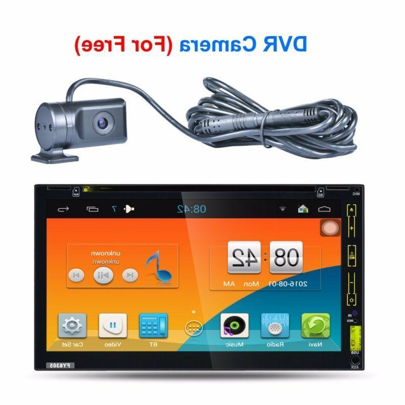 GPS Navigation Double Car Stereo CD Player +Camera