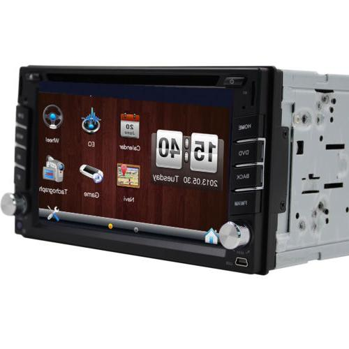 GPS Double Car Stereo Player Bluetooth Map & Camera