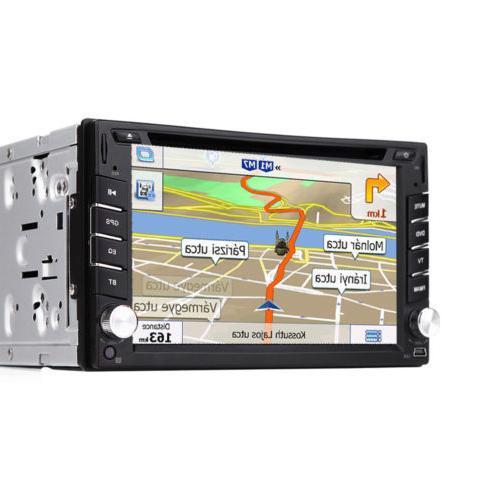 GPS Navigation Din Car Stereo Radio DVD Player Bluetooth + &