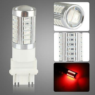 4Pcs Red 3057 33SMD Reverse Tail Turn Light Bulbs