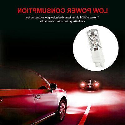 4Pcs Red 3157 3457 3057 33SMD Backup Reverse Light Bulbs