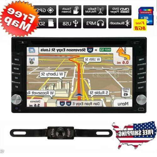 GPS Navigation Din Car Stereo Radio Player + &