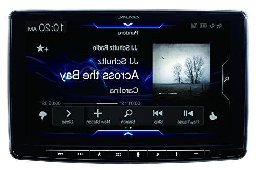 Alpine AM/FM/audio/video Receiver Touch Screen Mech-less Design Single-DIN
