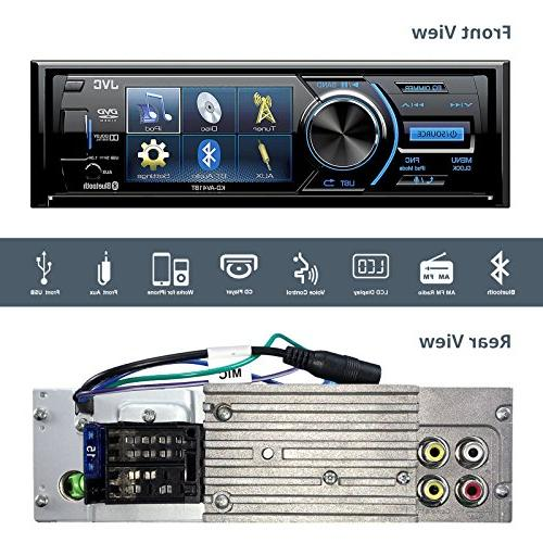 "JVC Display USB Bluetooth Bundle Plate Mount Rear Colored Enrock 22"" AM/FM Antenna"
