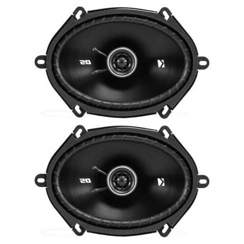 "JVC USB AUX CD 4x 6x8"" Car 2-Way Speakers,"