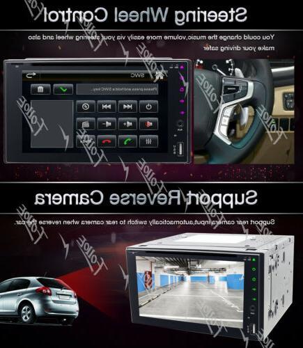 "6.2""Double 2Din Car Stereo Radio MP3 CD USB NO GPS"