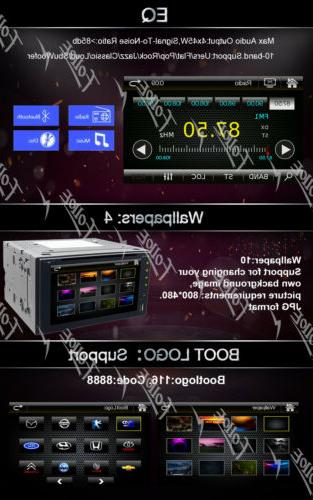 """6.2""""Double 2Din inDash Stereo USB SD GPS"""
