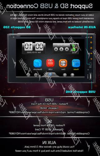 "6.2""Double Car Stereo MP3 AUX USB"