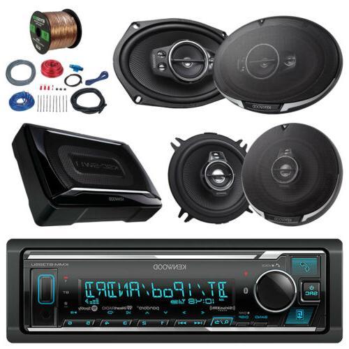 "Kenwood Car Bluetooth Radio, 150W Subwoofer, 6x9"" and 5.25"""