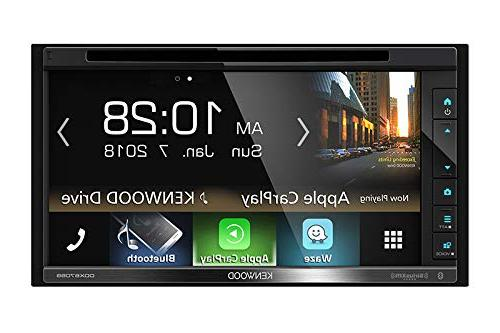"Kenwood 6.2"" Touchscreen Double-DIN CD DVD Player Car Stereo Receiver with Apple Bundle Combo With Metra 95-5812 for and Up Ford Vehicles"