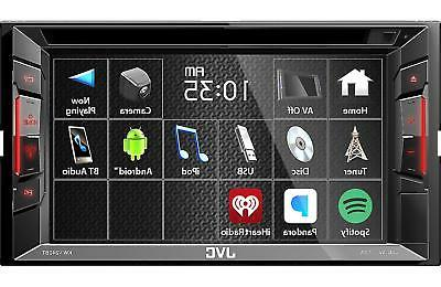"JVC KW-V240BT 6.2"" Double-Din Bluetooth DVD/CD/USB Car Recei"