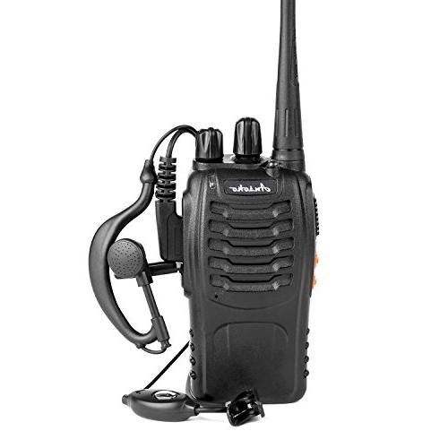 Ansoko Walkie Talkie FRS/GMRS 16-Channel Handheld with Earpiece