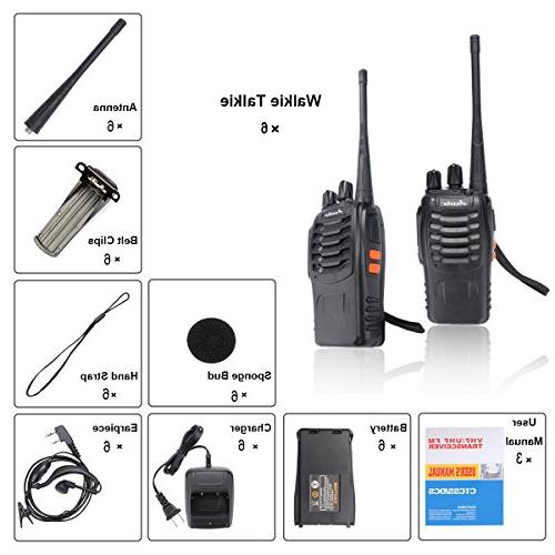 Ansoko Walkie Talkie Rechargable 16-Channel Handheld Two Radio with