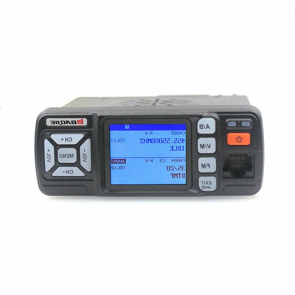 Mini Car UHF VHF Dual Band Ham Radio Talkie For BAOJIE