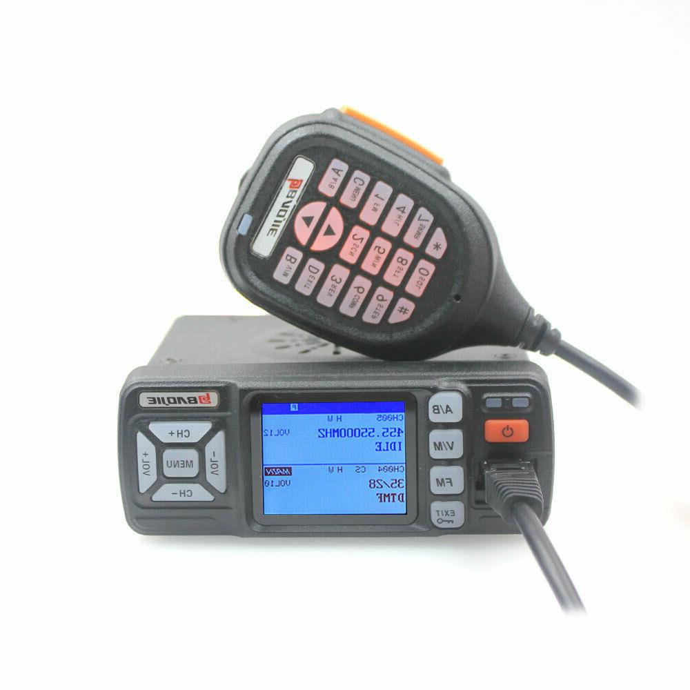 BAOJIE BJ-318 Mini Car UHF VHF Dual Band Mobile 2 Way Ham Ra