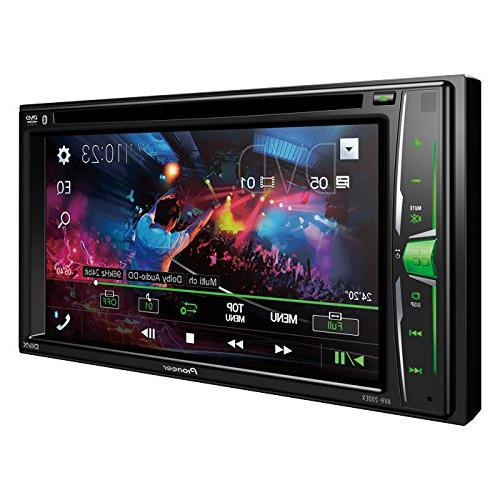 Pioneer Double AVH-200EX DVD/MP3/CD Player Touchscreen W/Toyota Double Din Car Stereo Radio Installation Dash Kit License Plate Camera