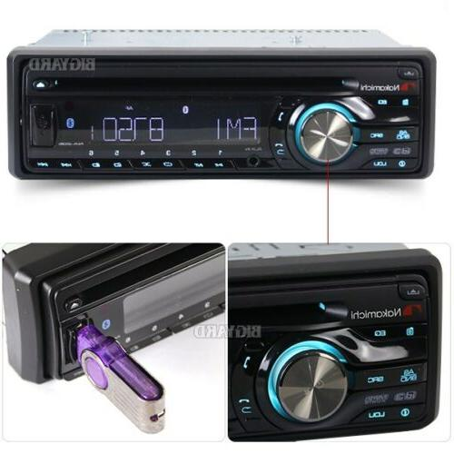 New NAKAMICHI Single DIN CD AUX Car Radio Headunit