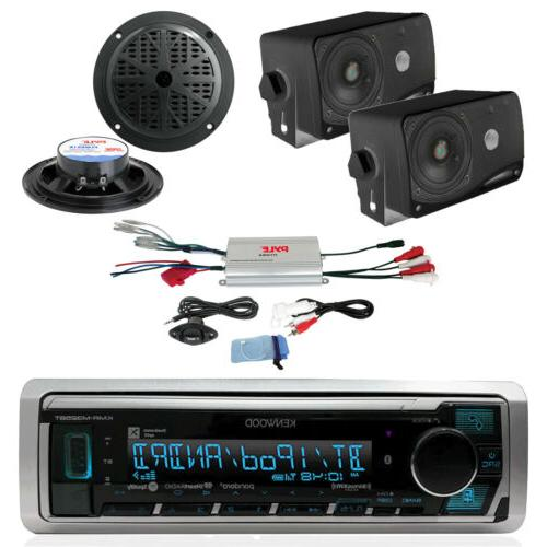 New Kenwood Marine Car Bluetooth SiriusXM Ready Radio 6 Blac