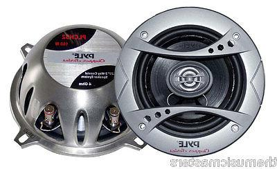"Pair 5 1/4"" inch 5.25"" Premium 2-Way Coax Car Radio Stereo S"