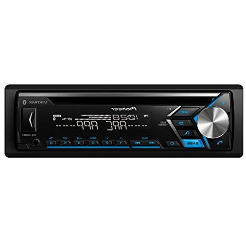 """Pioneer Bluetooth Radio USB Player Receiver Bundle Combo With CS654 6.5"""" 2-Way Coaxial 6x8"""" Speaker + 4-Channel Amplifier + Kit"""