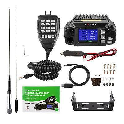 Radioddity QB25 Mobile Radio VHF/UHF Quad 25W,