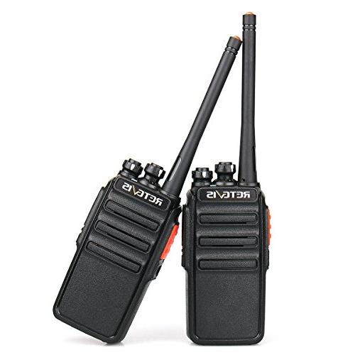 Retevis Walkie Talkie FRS Rechargeable Security Two Radios