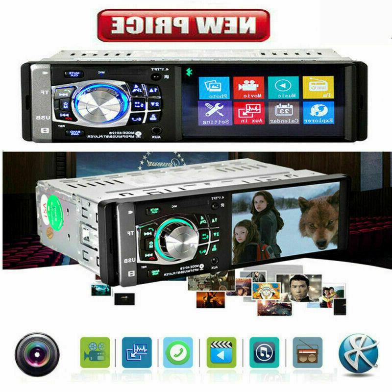 Single 1 Car Radio Stereo MP5 Player Bluetooth AUX USB SD