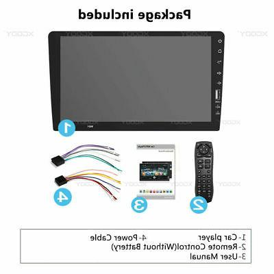 Single 1 Din Car FM/USB/AUX Touch BT
