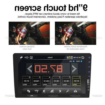 Single 1 Din Car Stereo FM AUX MP5 Player Touch Screen Radio