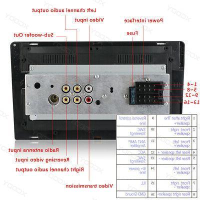 1 Din FM/USB/AUX MP5 Player Touch Rear Camera Kits