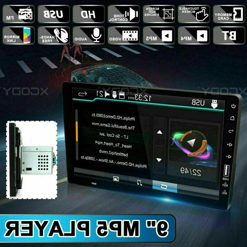 single 1 din 9 car fm usb
